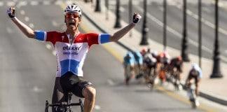 Bob Jungels s'impose en solitaire sur la première étape du Tour d'Oman 2016. Photo : Tour d'Oman