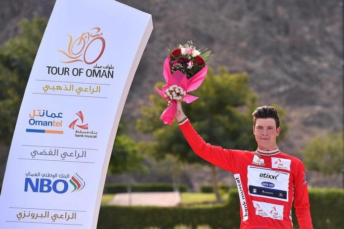Bob Jungels, leader du classement général du Tour d'Oman 2016 à l'issue de la première étape. Photo : TDWsport/Etixx-Quick Step
