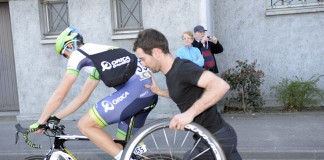 Mathew Hayman off pour les flandriennes - Omloop Het Nieuwsblad - Photo : Orica GreenEdge