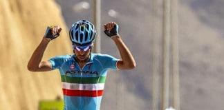 Vincenzo Nibali remporte l'étape reine du Tour d'Oman 2016 au sommet de la Green Mountain. Photo : Tour d'Oman