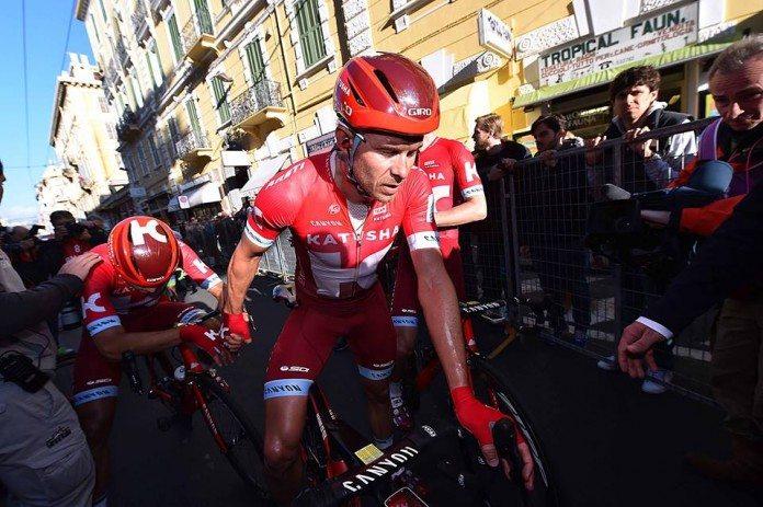 Alexander Kristoff à l'arrivée de Milan Sanremo 2016. Photo : TDWsport/Katusha