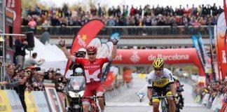 Alexey Tsatevich remporté la 7ème étape du Tour de Catalogne 2016. Photo : TDWsport/Katusha