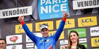 Arnaud Démare tout sourire après sa victoire sur Paris-Nice 2016. photo : ASO/G.Demouveaux