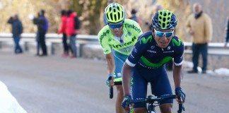Nairo Quintana sur le Tour de Catalogne. Photo : Photo Gomez Sport/Luis Ángel Gómez/Movistar