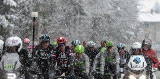 En raison de conditions climatiques difficiles, la troisième étape de Paris-Nice 2016 a été annulée. Photo : Paris-Nice