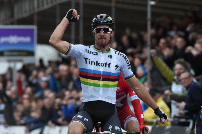 TODAYCYCLING - Peter Sagan victorieux sur Gand-Wevelgem 2016. Photo : Bettini Photo/Tinkoff