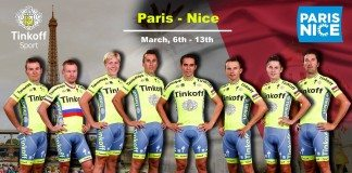 L'équipe Tinkoff pour Paris-Nice 2016.