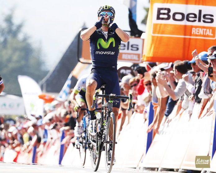 Alejandro Valverde sur la Flèche Wallonne 2015. Photo : Flèche Wallonne.