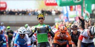 Bryan Coquard a remporté la deuxième étape A du Circuit de La Sarthe à Angers. Photo : Direct Energie.