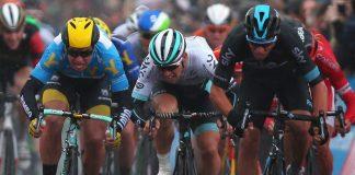 Danny Van Poppel à la photofinish sur le Tour de Yorkshire 2016. Photo : Team Sky
