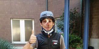 Fabio Felline à la sortie de l'hôpital. Photo : Facebook