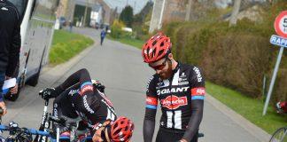 L'équipe Giant-Alpecin lors de sa reconnaissance sur les routes de la Flèche Wallonne. Photo : Tristan CLOET
