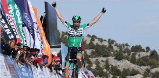 Jaime Roson au sommet d'Elmali sur le Tour de Turquie 2016. Photo : Tour of Turkey