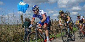 TODAYCYCLING : Johan Le Bon lors de Paris-Roubaix 2016, participera à l'épreuve de contre à la montre aux championnats du monde 2016. Photo : FDJ