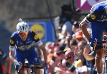 Julian Alaphilippe et Dan Martin sur la Flèche Wallonne 2016. Photo : Etixx-Quick Step.