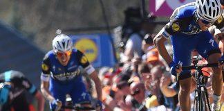 Julian Alaphilippe et Dan Martin sur la Flèche Wallonne 2016. Photo : Etixx-Quick Step.
