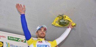 Marc Fournier sur le podium final du Circuit de La Sarthe. Photo: FDJ.