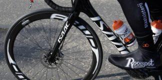 Les freins à disque, utilisés par les coureurs lors du dernier Paris-Roubaix. Roompot.