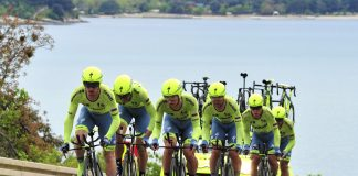 L'équipe Tinkoff remporte le contre-la-montre par équipe du Tour de Croatie 2016. Photo : Bettini Photo/Tinkoff
