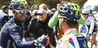 Alejandro Valverde et Carlos Betancur sur le Tour de Castille et Leon 2016. Photo : Movistar.