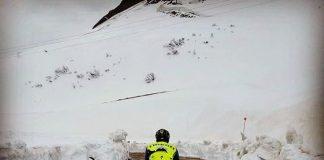 Alberto Contador s'entraîne dans les Alpes. Photo : Instagram Alberto Contador