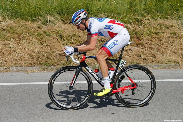 Alexandre Geniez lors du Tour d'Italie 2016. Photo : Pressesports/Yuzuru SUNADA/FDJ