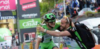Giulio Ciccone crée la surprise sur la 10ème étape du Tour d'Italie 2016. Photo : Giro d'Italia