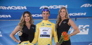 Julian Alaphilippe en jaune sur le Tour de Californie. Photo : Etixx QuickStep / Tim de Waele