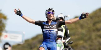 TODAYCYCLING - Julian Alaphilippe en solitaire au sommet du Gibraltar Road. Photo : Amgen Tour of California