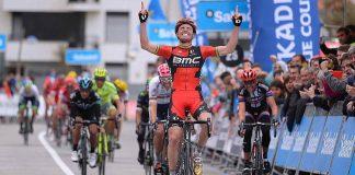 Samue Sanchez lors de sa victoire d'étape sur le Tour du Pays-Basque 2016. Photo : BMC Racing Team / Tim de Waele