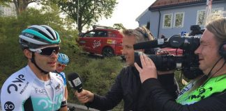 Steele Von Hoff après sa victoire sur la 1ère étape du Tour de Norvège 2016. Photo : One Pro Cycling