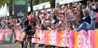 TODAYCYCLING - Tom Dumoulin lors de la 1ère étape du Tour d'Italie 2016. Photo : Giro d'Italia