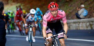 Tom Dumoulin portant le maillot de leader du Tour d'Italie 2016. Photo : Giant-Alpecin.