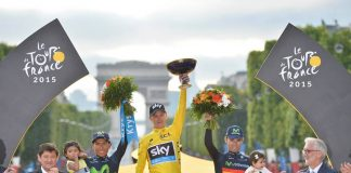 Le podium du Tour de France 2015. Photo : Le Tour de France.