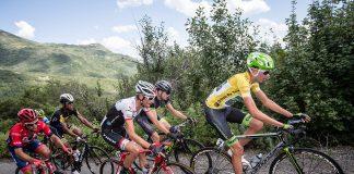 Joe Dombrowski mène le Tour de l'Utah 2015. Photo : Jonathan Devich/Tour of Utah
