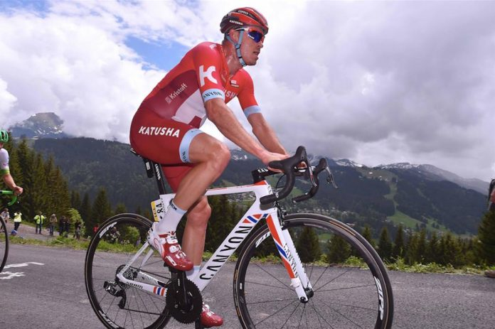 Alexander Kristoff lors du prologue au Gets. Photo : Katusha.