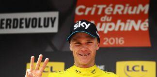 Chris Froome au départ du Critérium du Dauphiné