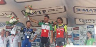 TODAYCYCLING - Giacomo Nizzolo s'impose devant Brambilla et Pozzato. Photo : Wilier-Southeast/Twitter.