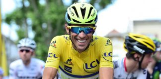 TODAYCYCLING - Alberto Contador, tout sourire au départ ce matin. Photo : ASO/A.Broadway