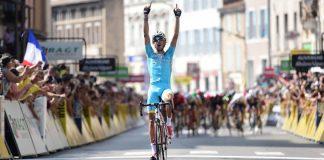 Fabio Aru victorieux sur la 3ème étape du Critérium du Dauphiné 2016. Photo : Critérium du Dauphiné.