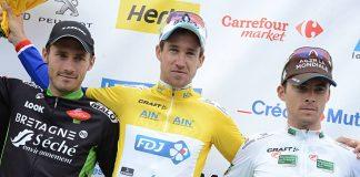 TODAYCYCLING - Le podium du Tour de l'Ain 2015. Photo : Tour de l'Ain.
