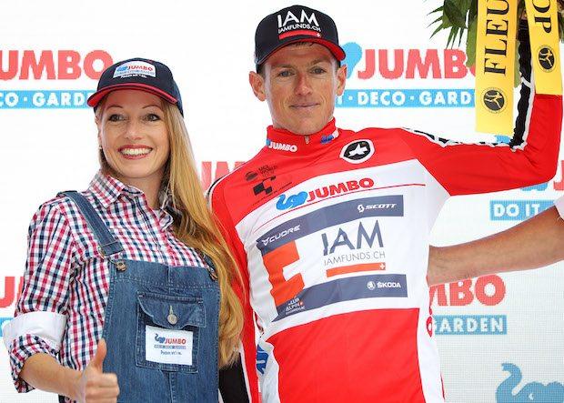 Mathias Frank abandonne le Tour de Suisse 2016. Photo : Bettini / IAM Cycling