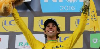 Michael Matthews en maillot jaune sur Paris-Nice 2016. Photo : ASO / Paris-Nice