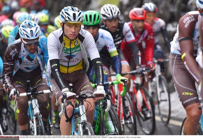 TODAYCYCLING - Pierre Latour sur le Tour de Suisse 2016. Photo : AG2R-La-Mondiale.
