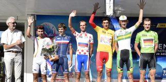 Le podium du Tour de l'Avenir 2015. Photo : Tour de l'Avenir.