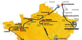 TODAYCYCLING - carte du tour de france 2006