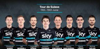 Le Team Sky pour le Tour de Suisse 2016. Photo : Sky.