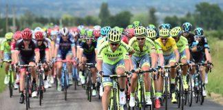 L'équipe Tinkoff autour de son leader Alberto Contador sur le Critérium du Dauphiné 2016. Photo : ASO/Critérium du Dauphiné