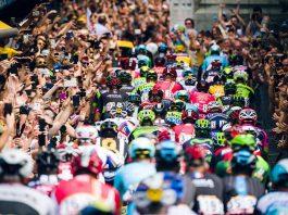 TODAYCYCLING - Le peloton du Tour de France. Photo : ASO/TDF
