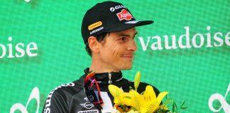 TODAYCYCLING - Warren Barguil sur le podium du Tour de Suisse 2016 après sa troisième place au classement général final. Photo : CorVos/Giant-Alpecin